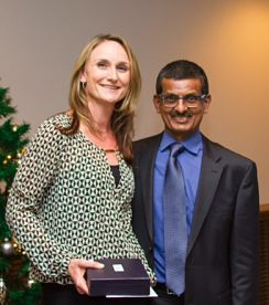 Susan Mortimer BMR RRT with Dr. Prakashen Govender MBChB,FCA(SA),FRCPC, HSC Dept of Anesthesia, Site Medical Manager